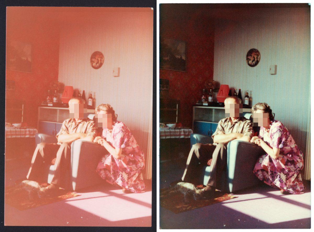 Links: altes Familienfoto. Rechts: auch.