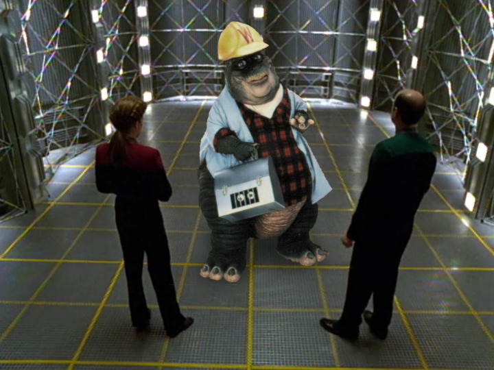 Earl Sinclair in the Holodeck